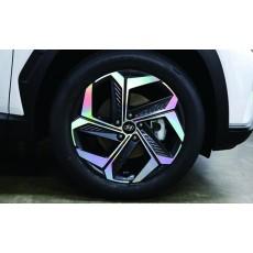투싼 NX4 19인치 휠 홀로그램 스티커